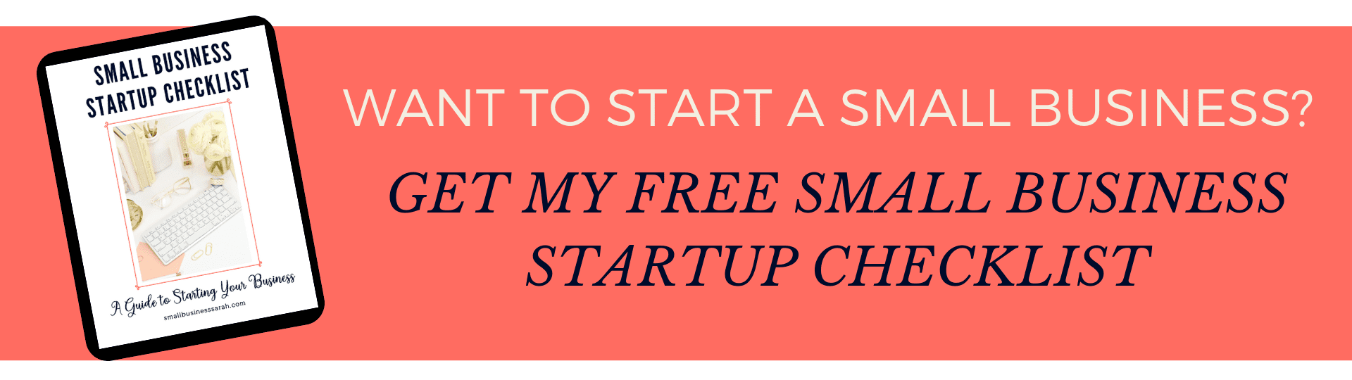 Get your FREE Small Business Startup Checklist