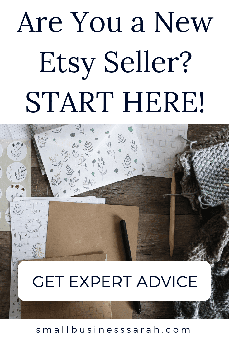 Get expert advice for your new Etsy shop including tax help, bookkeeping, new seller best practices, how to set-up your business and more! #Etsy Seller #Small Business