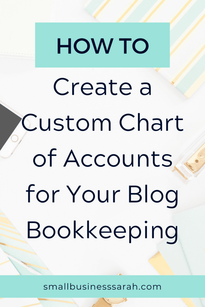 How to create a custom chart of accounts for your blog bookkeeping