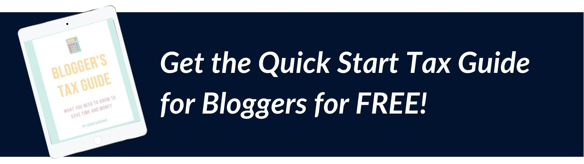 Blogger's Quick Start Tax Guide